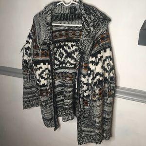 Zip up cardigan knit